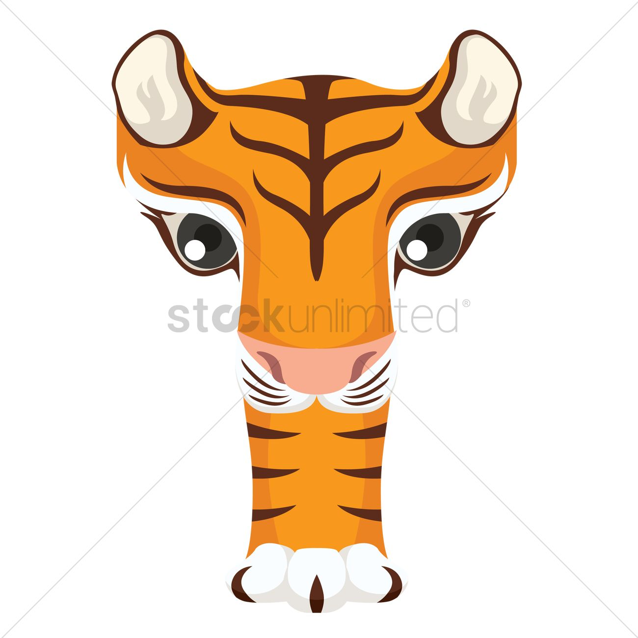 Letter T For Tiger Vector Image