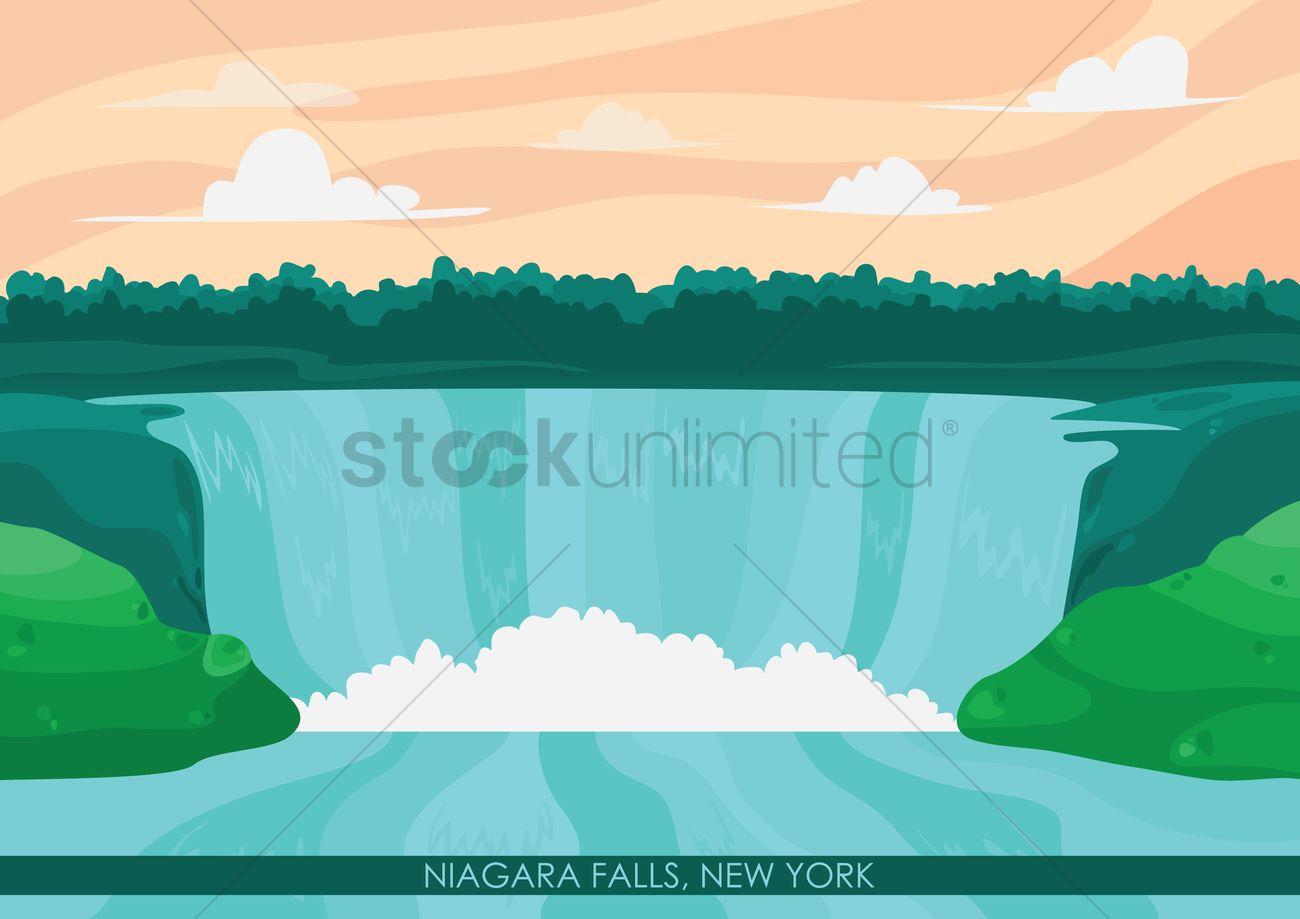 Niagara Falls Wallpaper Niagara Falls Wallpaper Vector Image 1568159