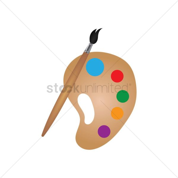 Paint Palette Vector - 2015367 Stockunlimited