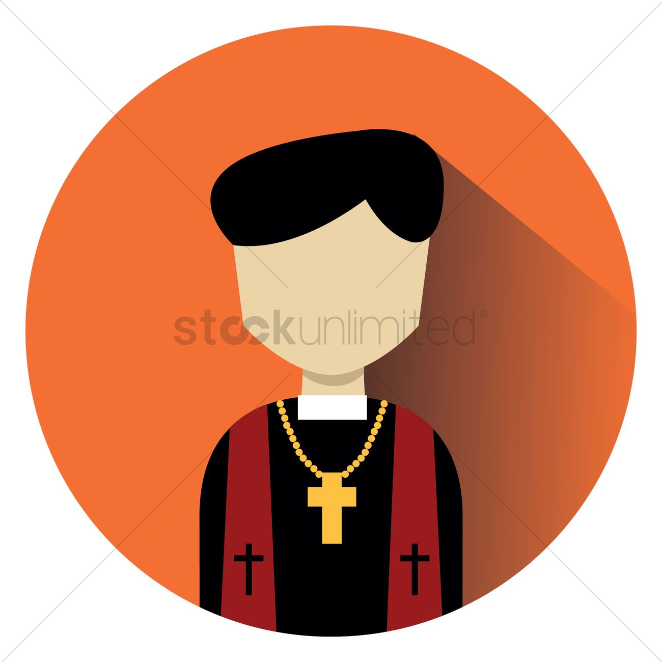 hight resolution of pastor vector graphic