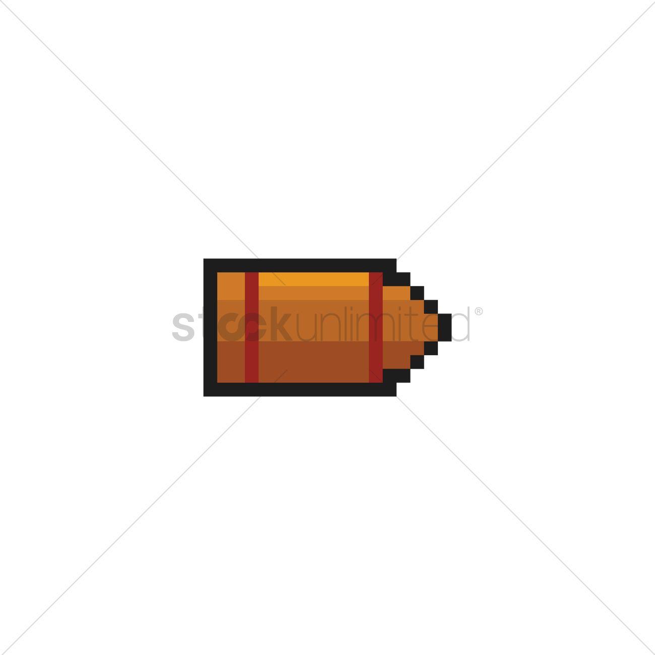 pixel art bullet vector