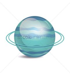 planet uranus on white background vector graphic [ 1300 x 1300 Pixel ]