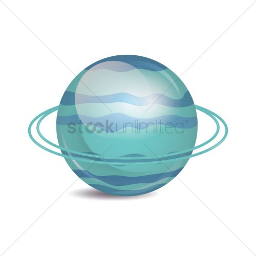 small resolution of planet uranus on white background vector graphic