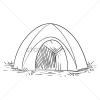 Tent Line Drawing & Sleeping In A Tent Sc 1 St Clipart.me