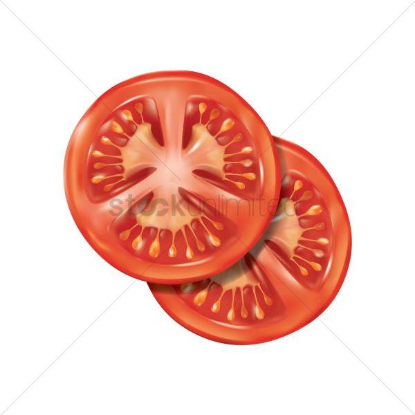 tomato slice vector - 1815051