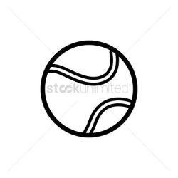 Free Tennis Ball Black White Stock Vectors StockUnlimited