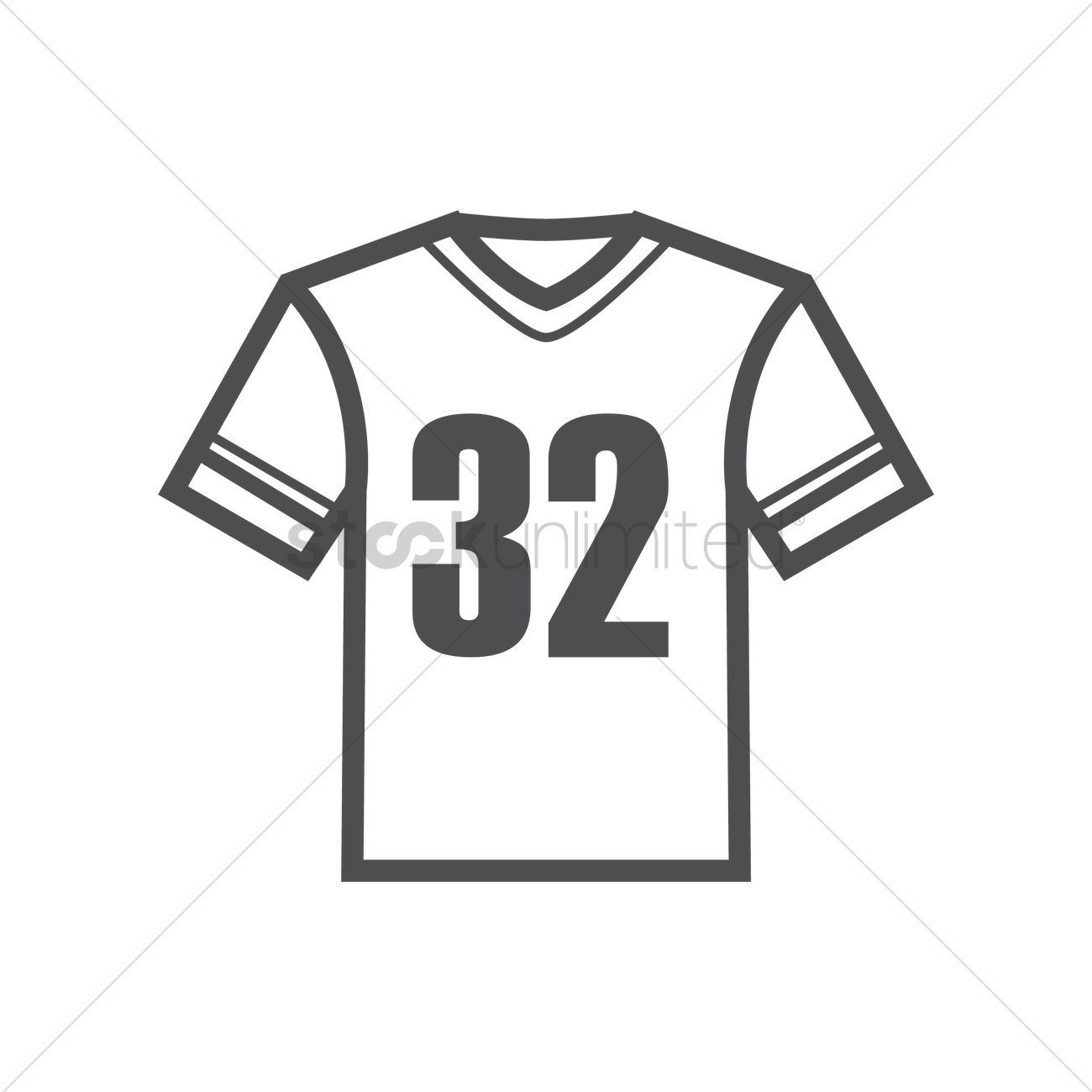 American Football Jersey Vector Image