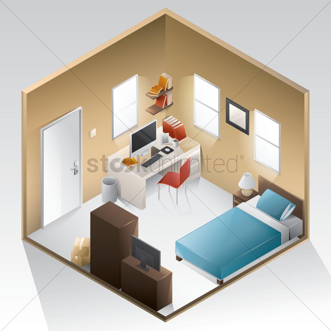 Bedroom Vector Image 1619464 Stockunlimited