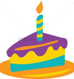 birthday cake slice vector graphic [ 1300 x 1290 Pixel ]