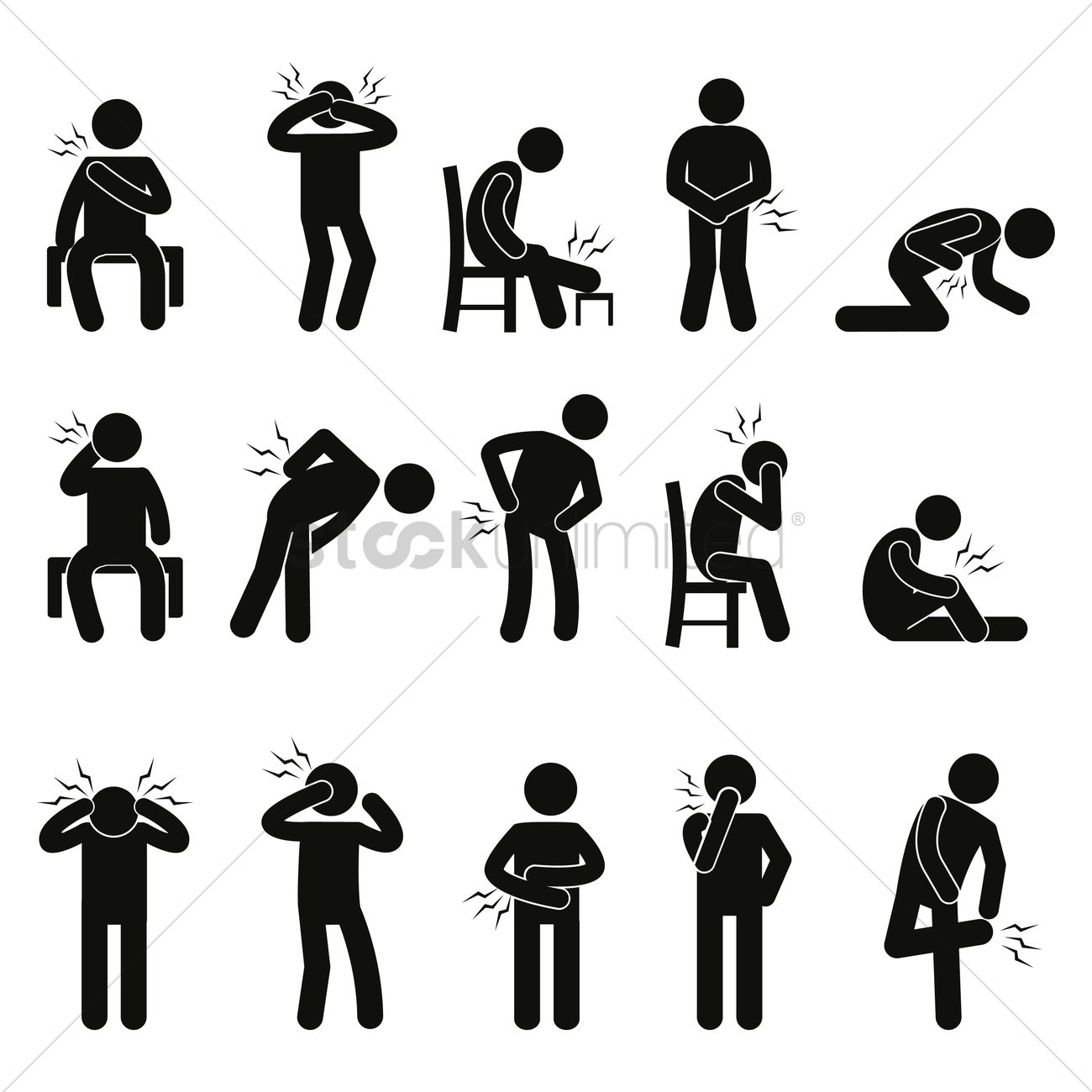 Body Ache Pain People Vector Image