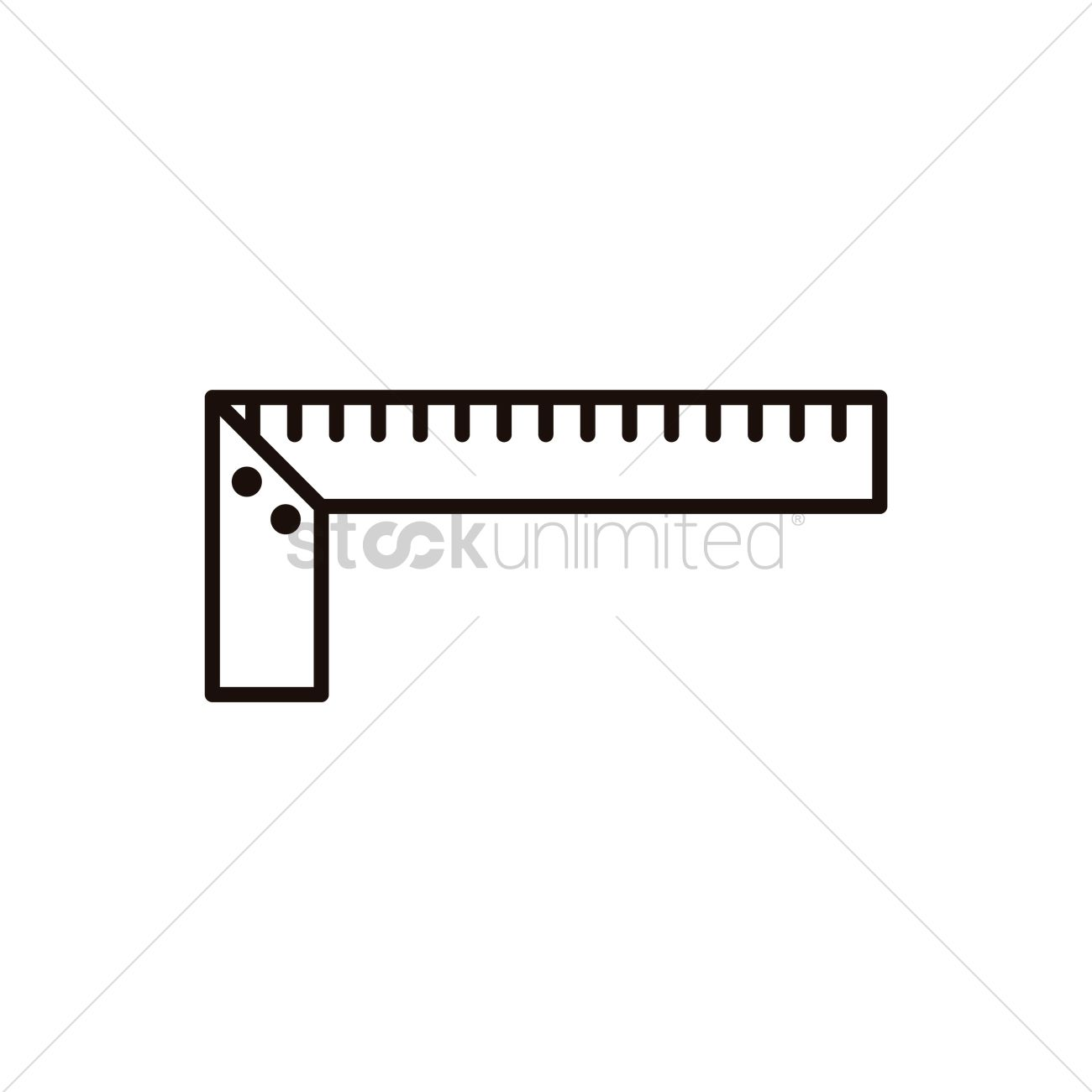 Construction Ruler Vector Image