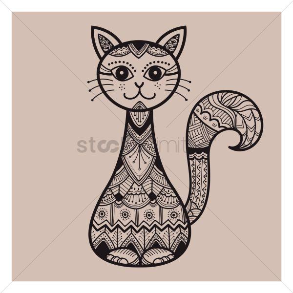 Cat Zentangle Designs