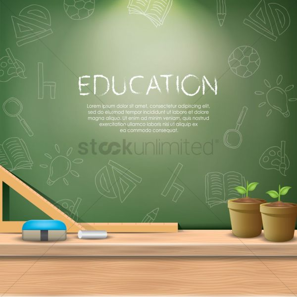 Education Wallpaper Vector - 1821872 Stockunlimited