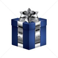 Gift box with ribbon Vector Image - 1934260   StockUnlimited