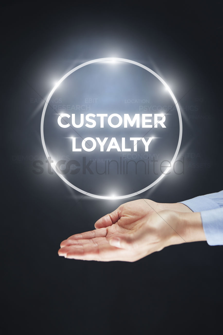 Hand showing digital text customer loyalty Stock Photo - 1936340 | StockUnlimited