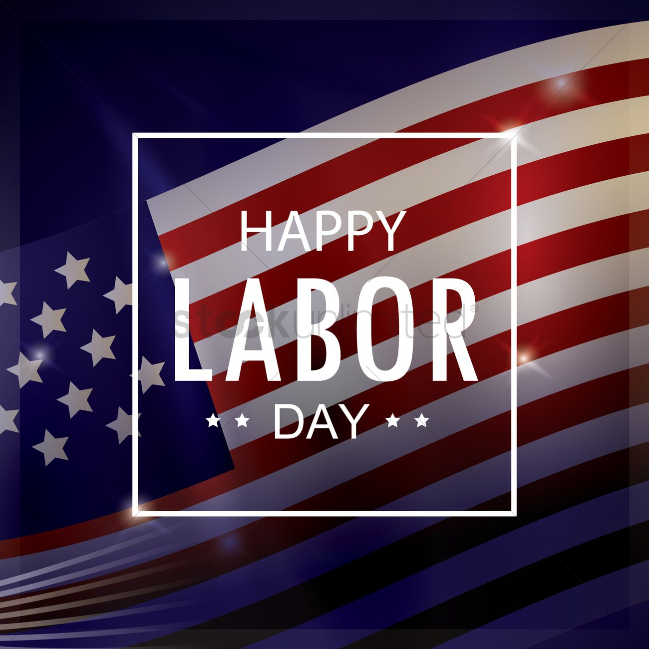 Happy Labor Day Wallpaper Vector Image