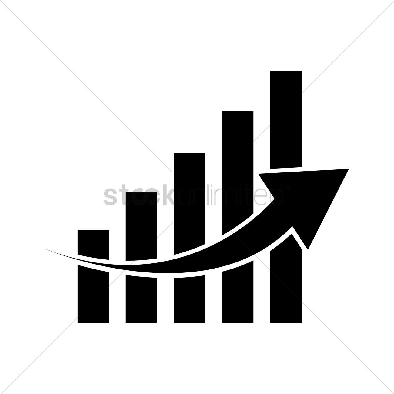 increasing graph vector image