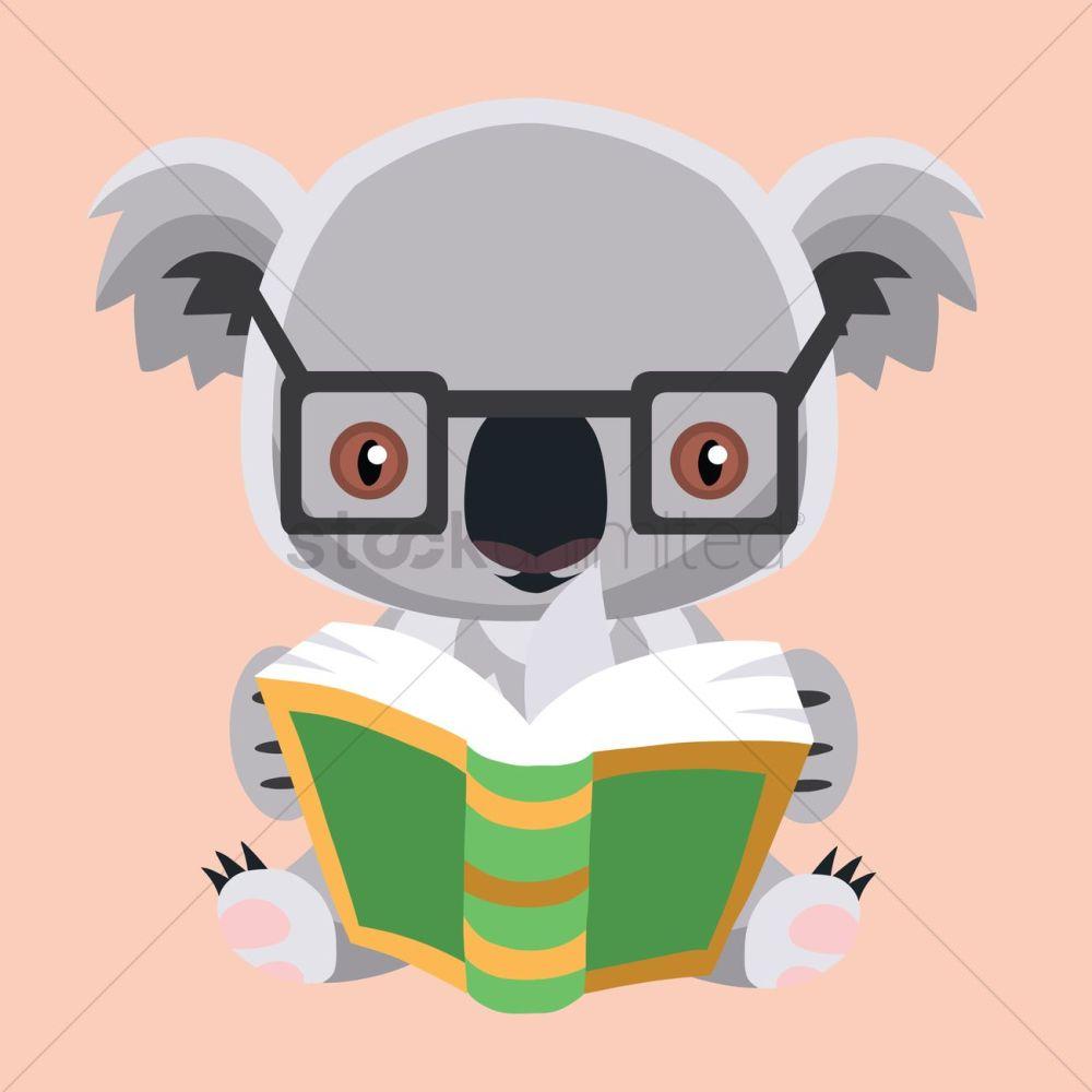 medium resolution of free koala bear reading a book vector graphic