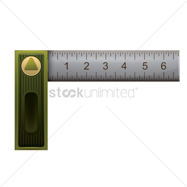 L Square Angle Ruler Vector - 1826604 Stockunlimited