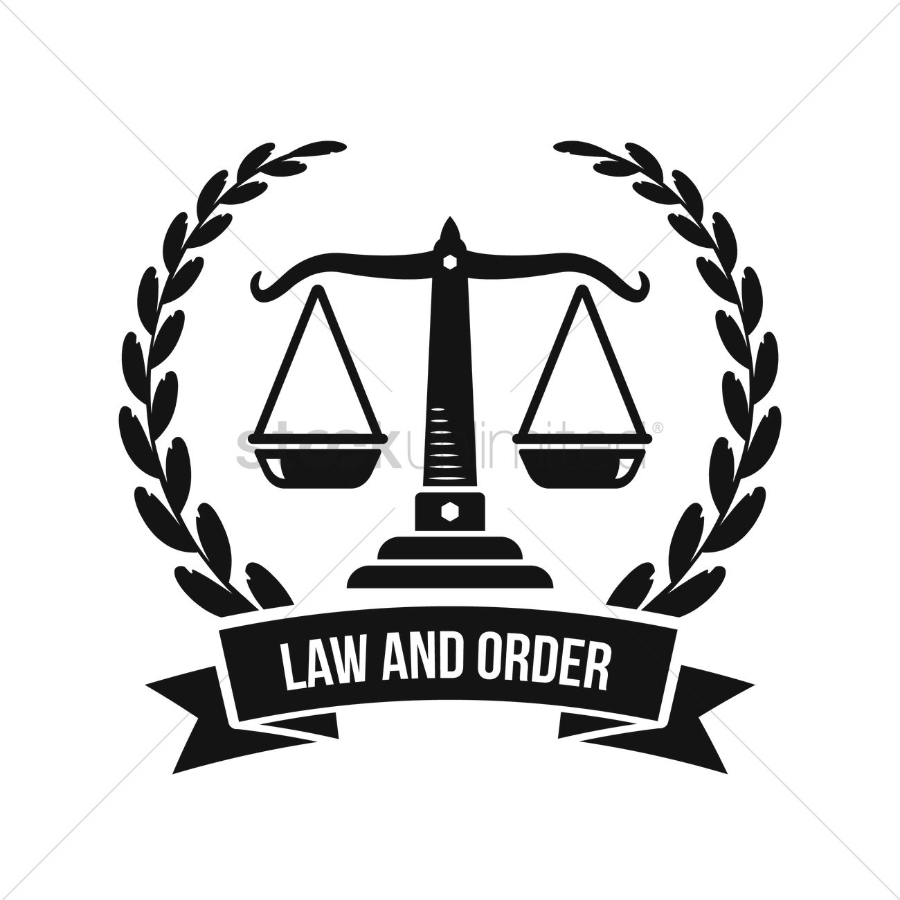 Law And Order Logo Element Vector Image