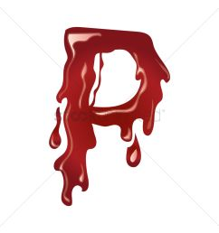 letter p with dripping blood vector graphic [ 1300 x 1300 Pixel ]
