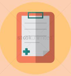 free medical report vector graphic [ 1300 x 1300 Pixel ]