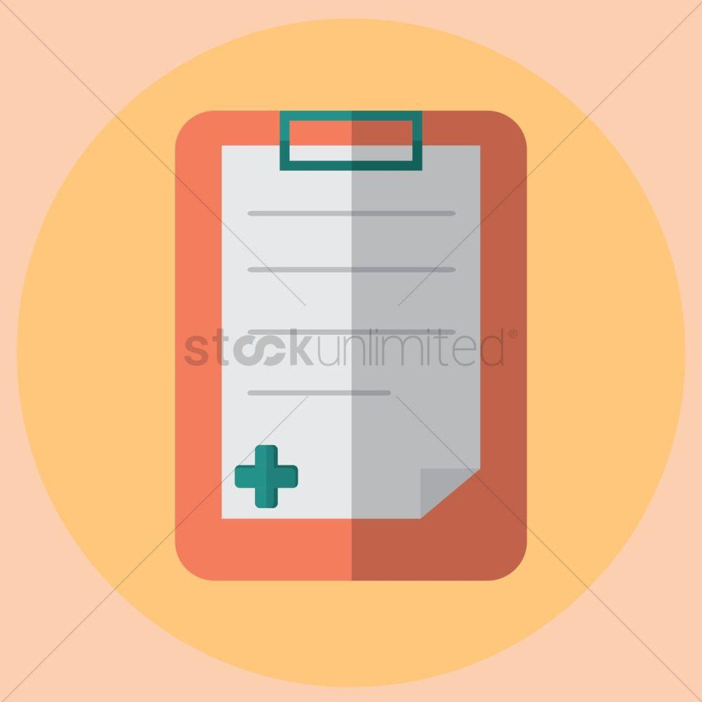 medium resolution of free medical report vector graphic