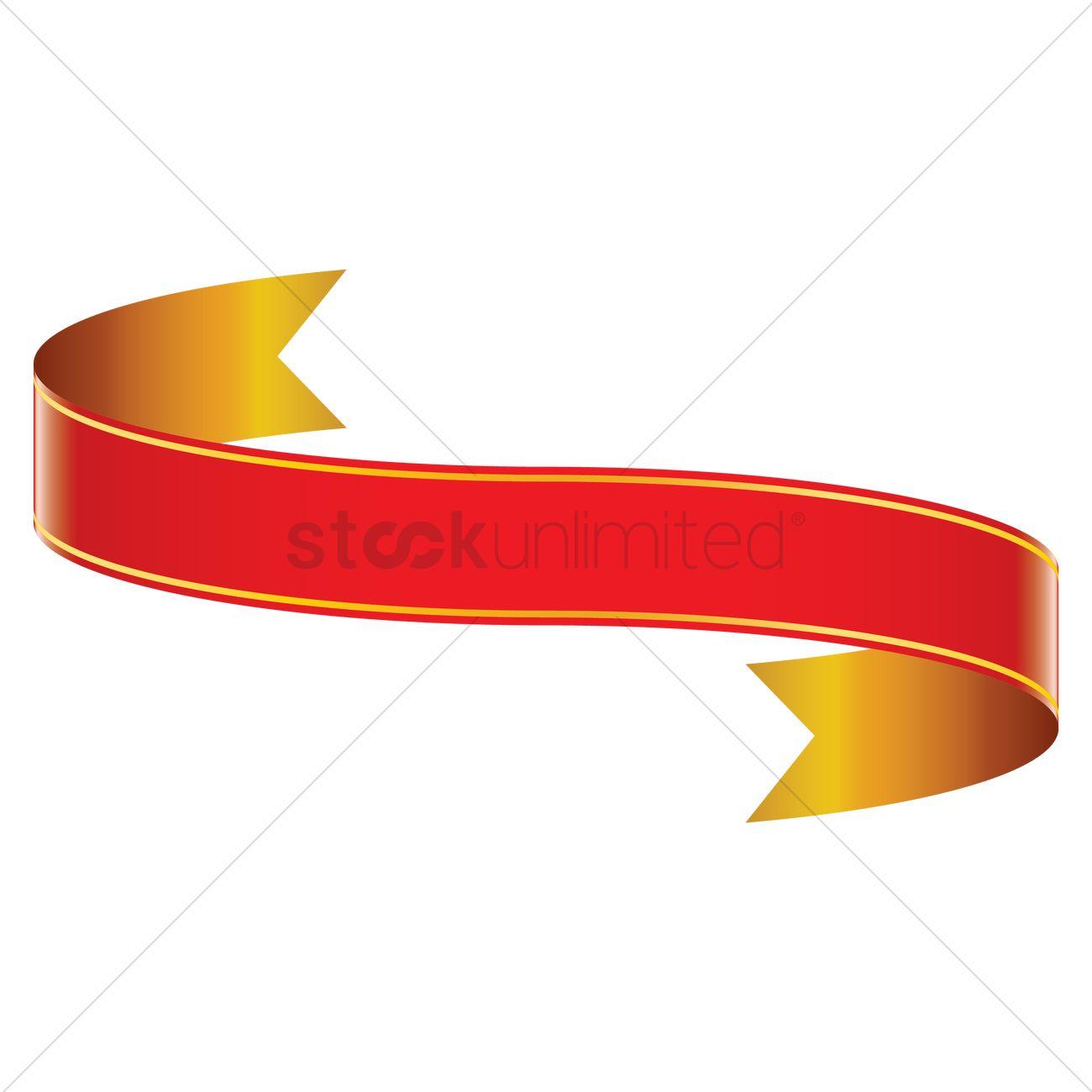 red ribbon banner design