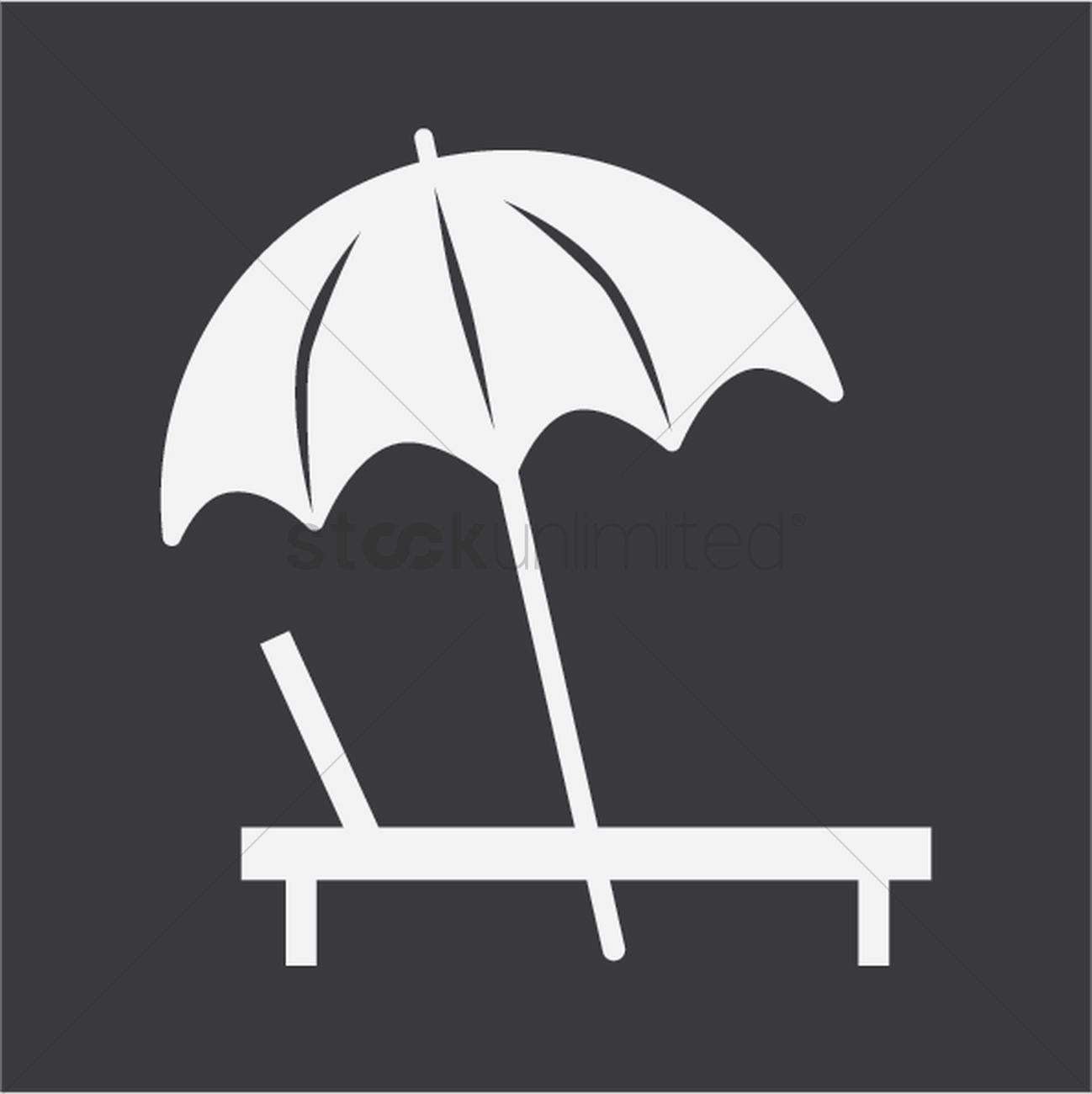 Chair With Umbrella Silhouette Of Beach Chair And Umbrella Vector Image 1438200