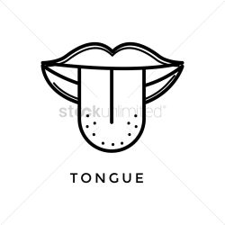 Outline Tongue Clipart Black And White