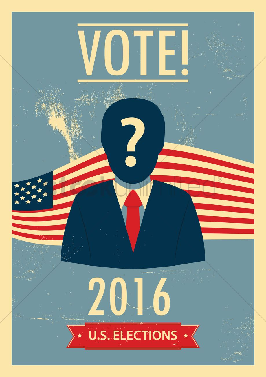 us elections poster vector