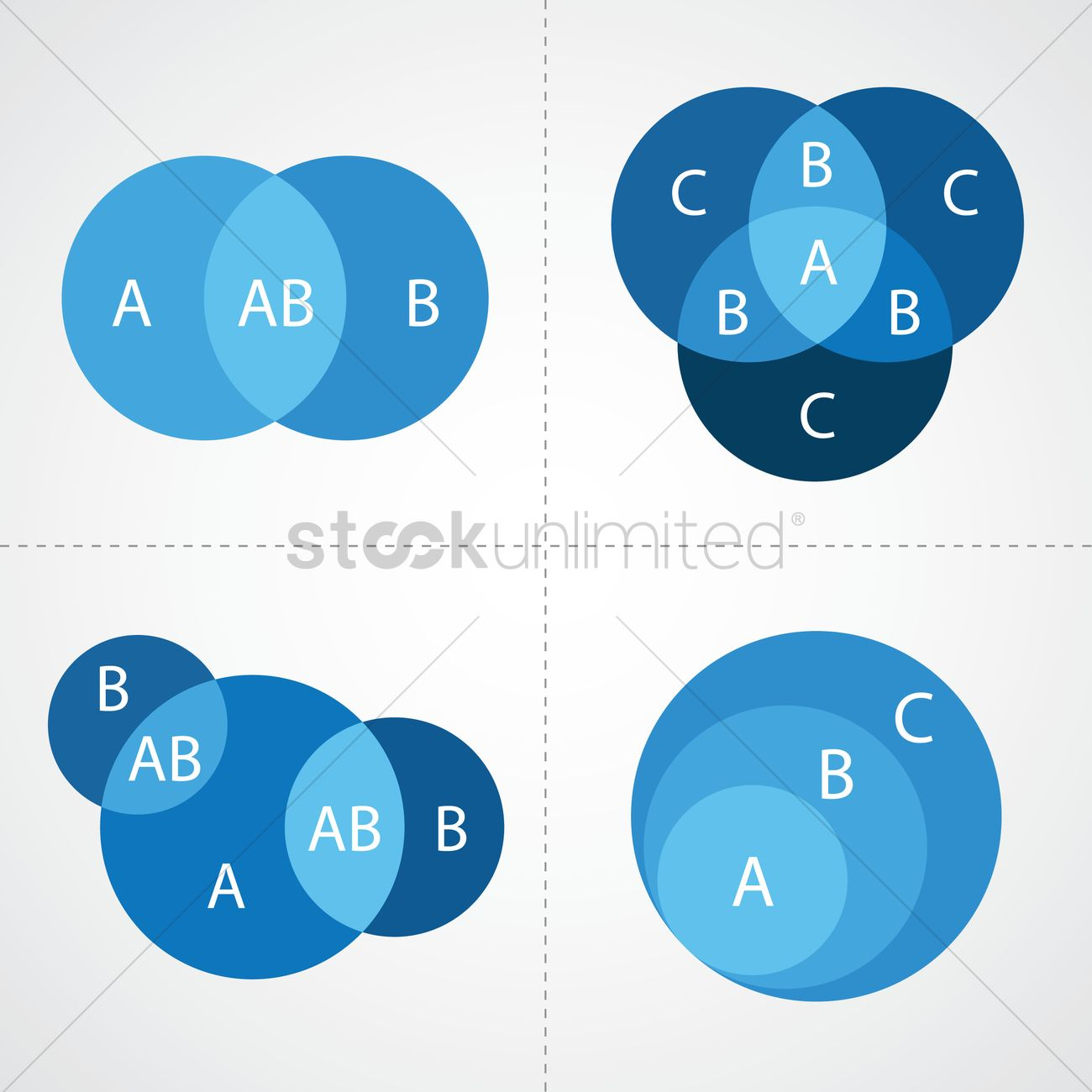 hight resolution of venn diagram infographic vector graphic