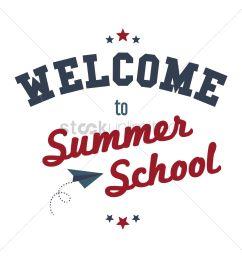 welcome to summer school text vector graphic [ 1300 x 1300 Pixel ]