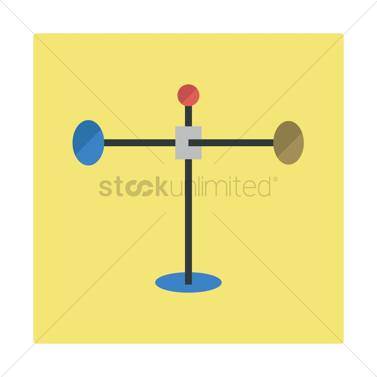 wind vane vector image