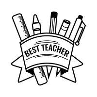 teacher happy teachers drawing vector clipart word clip line symbols apple appreciation stockunlimited outline simple words symbol creative board label