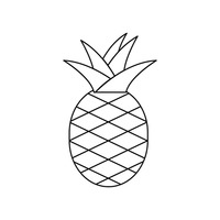 Pineapple Pineapples Fruit Fruits Fruits Sweet Sour Fresh Organic Outline Outlines Linear Linear Art Minimalism Simple Free Vector Graphics Clip Art Icons Photos and Images StockUnlimited