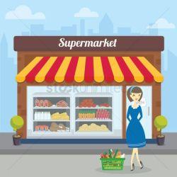 supermarket hypermarkets vector stockunlimited vectors illustration