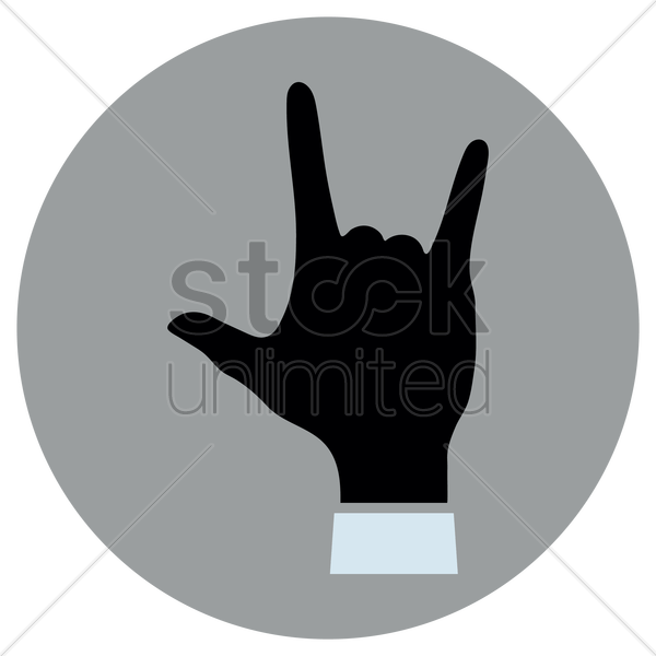 Download I love you hand gesture Vector Image - 1938293 ...