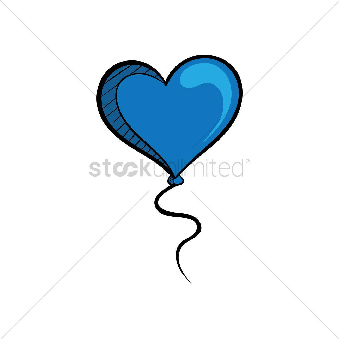 hight resolution of free a helium blue heart balloon vector graphic