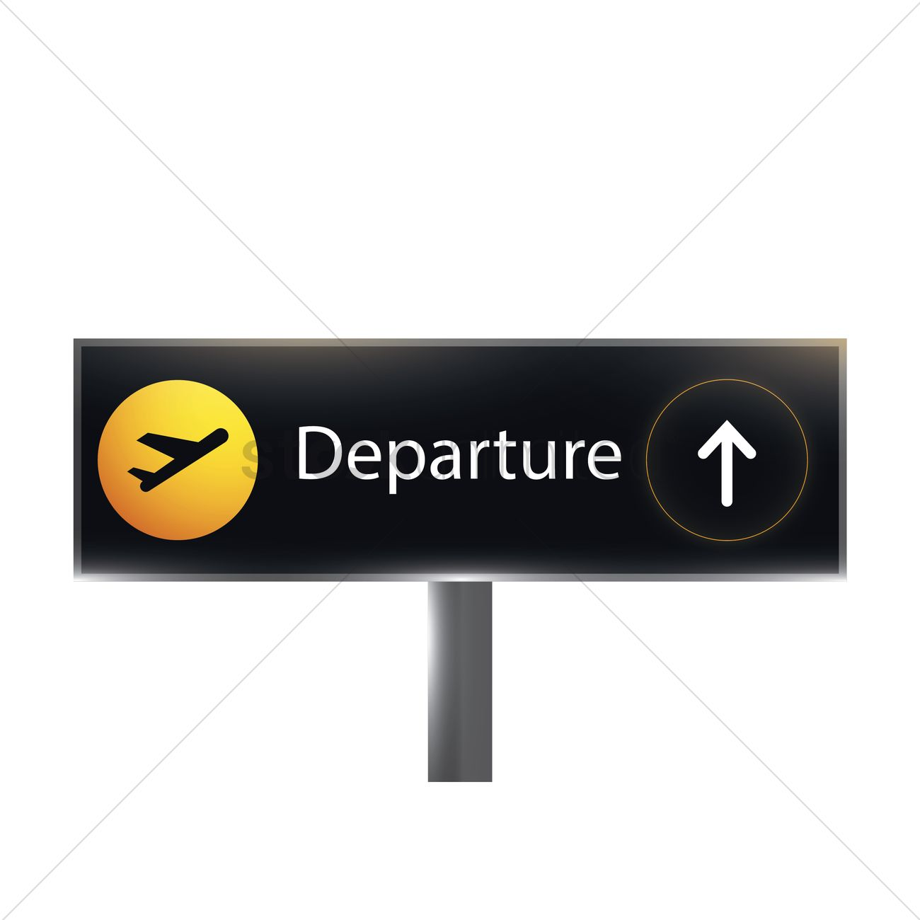 airport departure sign vector
