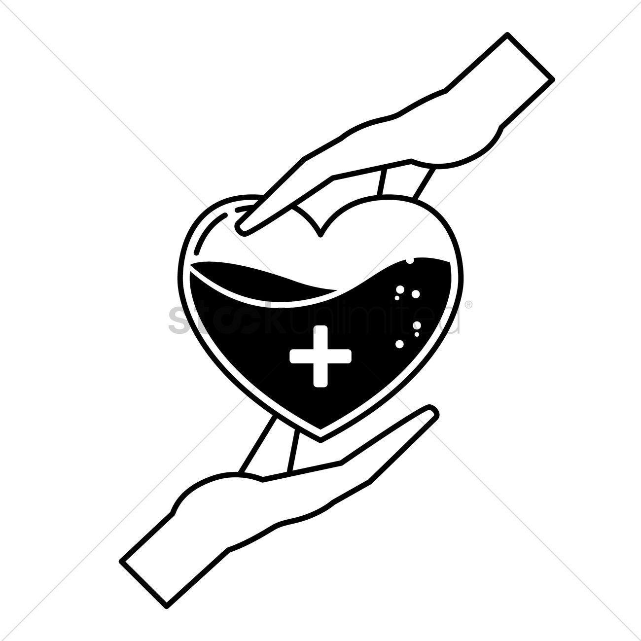 hight resolution of blood donation concept vector graphic