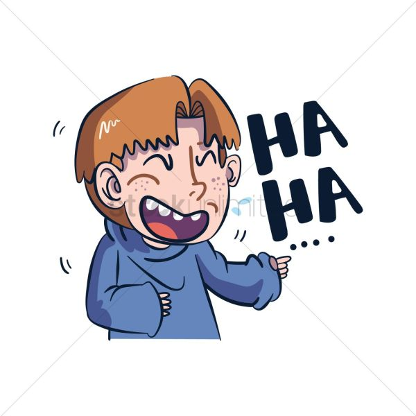 cartoon character laughing vector