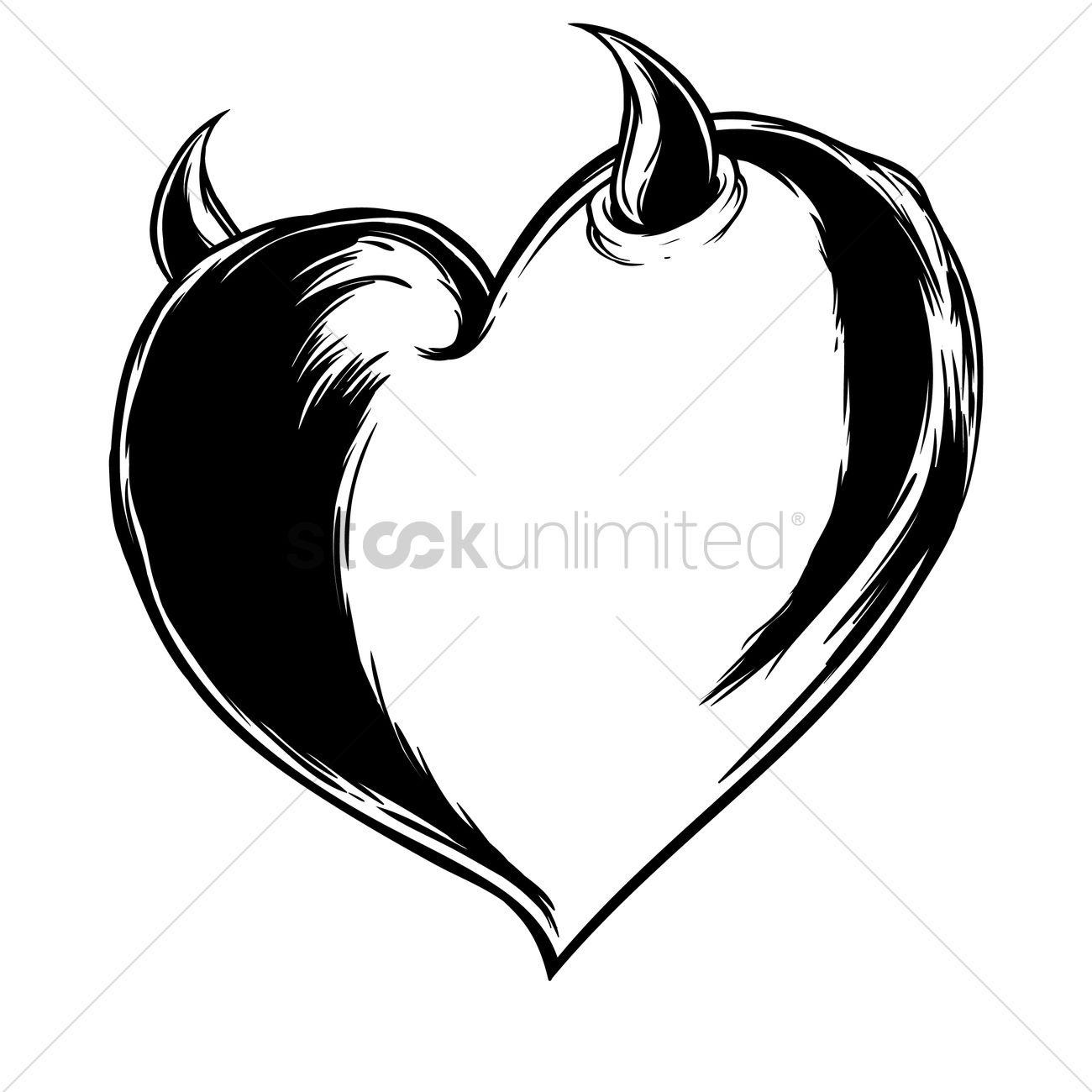 devil heart vector image