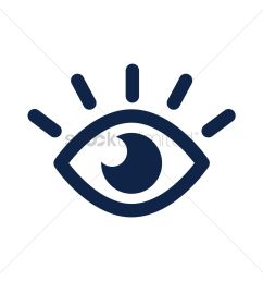 eye icon vector graphic [ 1300 x 1300 Pixel ]