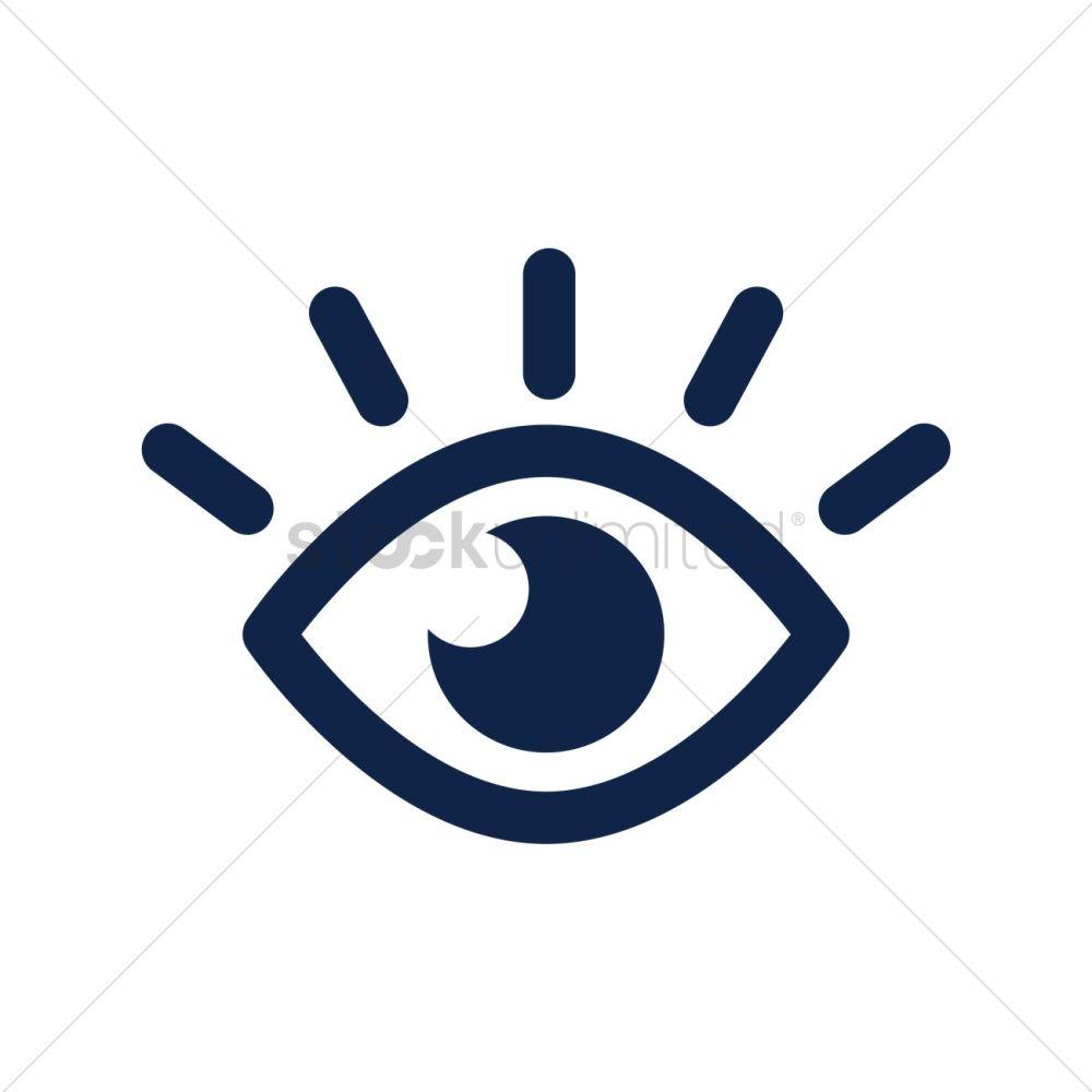 medium resolution of eye icon vector graphic