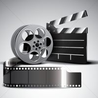 Film reel and clapperboard Vector Image - 1972853 | StockUnlimited