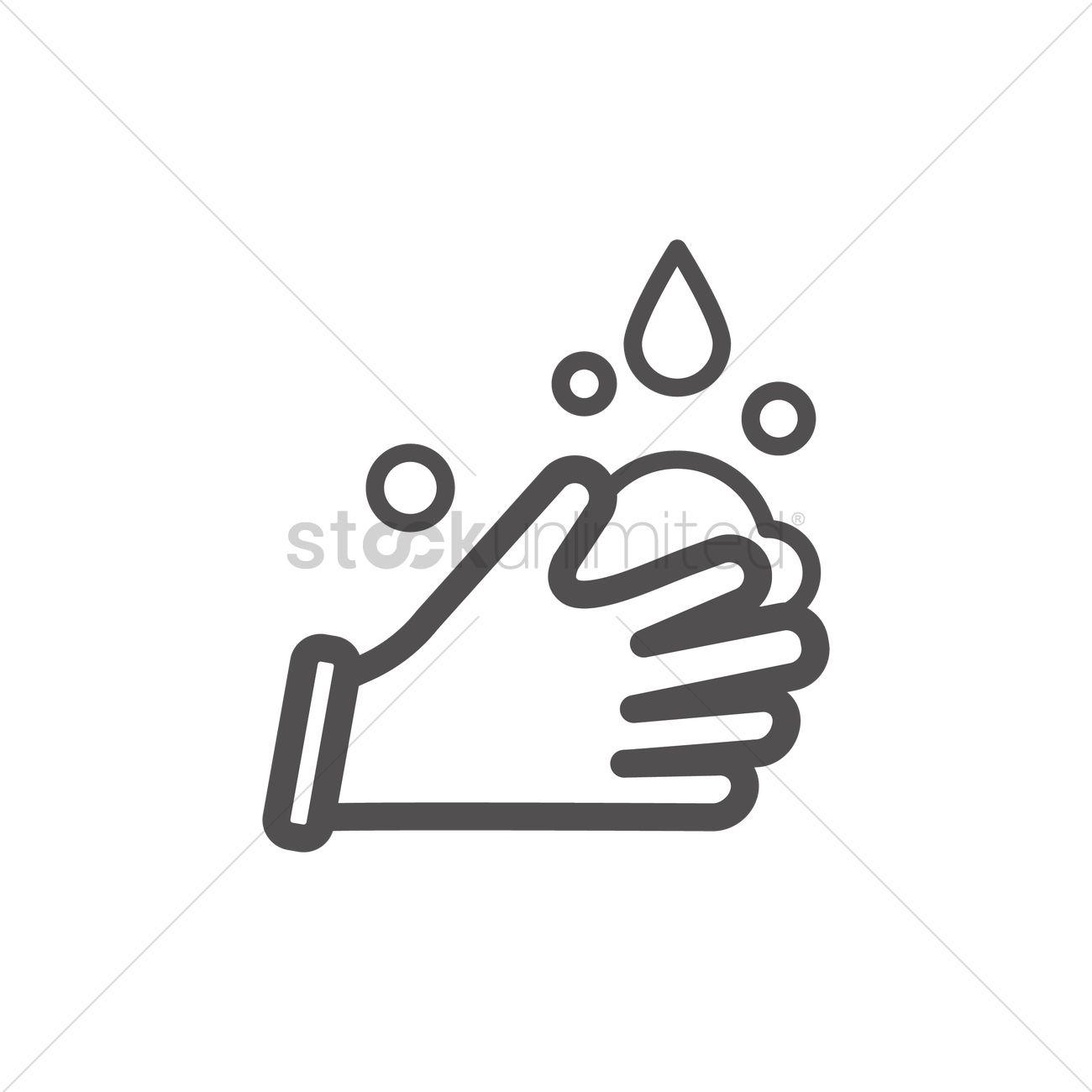 Hand Wash Icon Vector Image