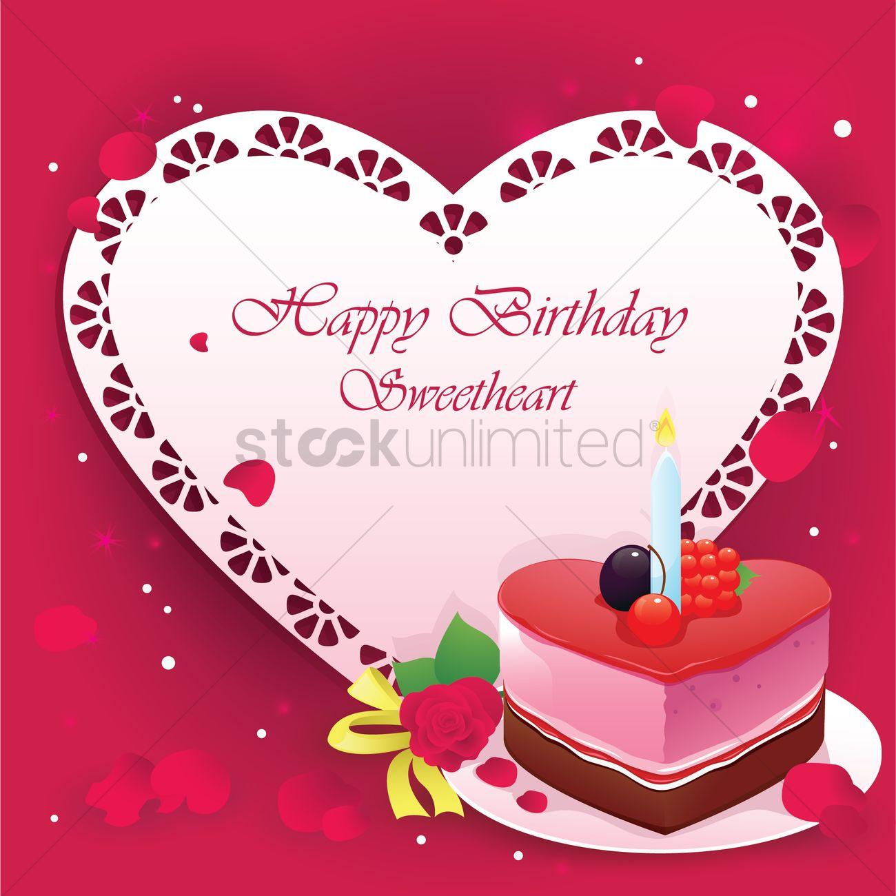 happy birthday sweetheart vector