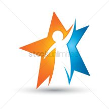 Human In Star Icon Vector - 1497641 Stockunlimited