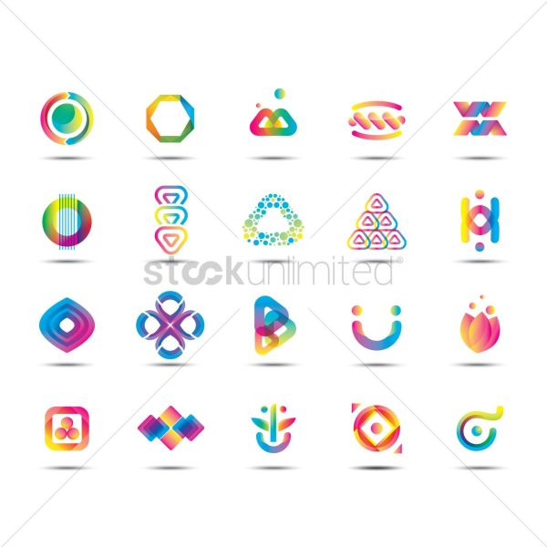 Set Of Abstract Logos Vector - 1599497 Stockunlimited